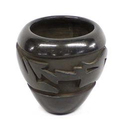 Santa Clara Deeply Carved Avanyu Pottery Jar