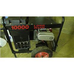 10000wattgenerator on cart and day long fuel tank