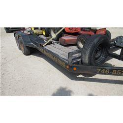 16ft car hauler tandem axle trailer w/ ramps and 5 bolt hubs