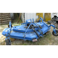 "72"" Farm King 3pth finish mower in matching tractor blue colour"