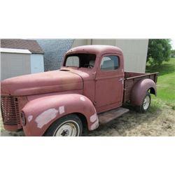 1949 International pickup truck restoration in progress