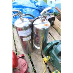 2 Stainless Steel Fire Extinguishers  ***MUST pickup