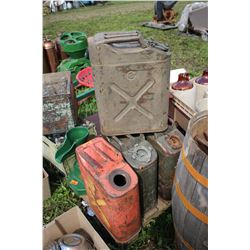 4 Military Jerry Cans  ***MUST Pickup