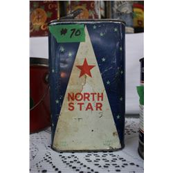 North Star Oil Tin - with Spout