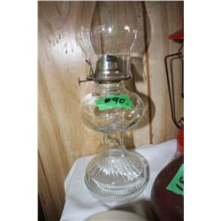 Clear Glass Coal Oil Lamp