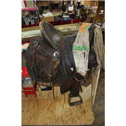 Western Saddle - Made by Great Western Saddlery Company - in business from 1890 to 1960  ***MUST be