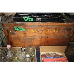 2 Wooden Ammunition Boxes