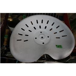 Metal Implement Seat