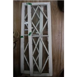 2 Windows - Rectangular with Triangular Panes of Glass  **Heavy