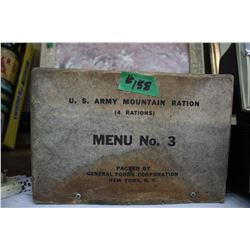 U.S. Army Mountain Ration Box - Menu #3