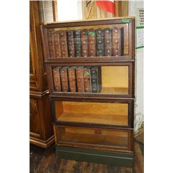 Barrister's 4 Tier Oak Bookcase ****MUST be Picked Up