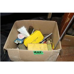 Box of Miscellaneous - Cleaning Brush, etc.