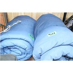 2 Blue Sleeping Bags