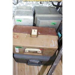 4 Fishing Tackle Boxes - 3 Plastic & 1 Metal