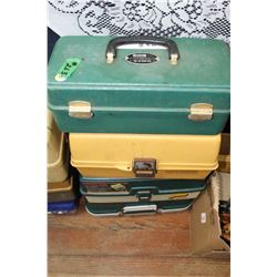 4 Fishing Tackle Boxes - All Plastic