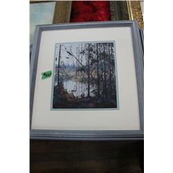 4 Framed Prints - From the Group of Seven **Signatures on Paintings: (#1 Trees with Lake in Backgrou