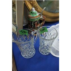 Beer Stein ; Glass Water Pitcher & a Glass