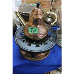 Copper Tea Pot on a Burner (3 pcs)