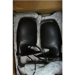 Set of (2)Heated Side Mirrors for a Chev Pickup - with Wiring