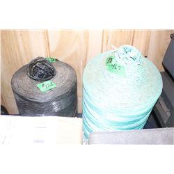 2 Balls of Twine - 1 Black & 1 Green