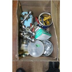Box with Misc. Door Knobs, Locks, etc.