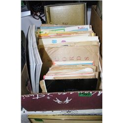 Box with Records - 45's & 78's   ***Very Heavy