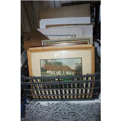 Box with Frames & Pictures   ***Heavy