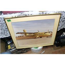 Framed Picture of Peter Pocklington's Plane