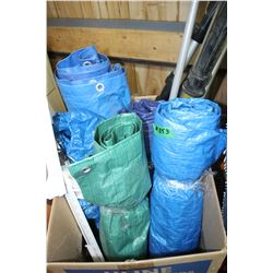 Collection of Tarps - Varying Sizes