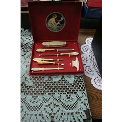 French Ivory Manicure Set in the Original Box