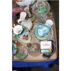 Flat with Vases, Large Sugar Bowl, etc.