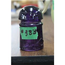 Dominion Purple Insulator (Small) with 1 very small chip on the bottom