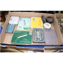Box with Assorted Cigarette, Coffee & Polish Tins
