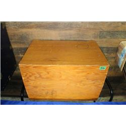 Wooden Chest with a Lid   ***Heavy