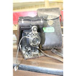 Kodak Junior #1 Bellow Camera with Case (Patent 1910)