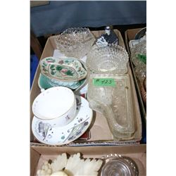 Box with Assorted Glassware & Dishes