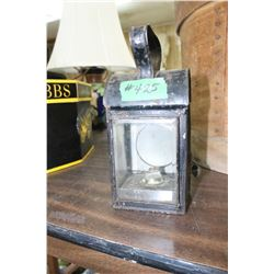 Portable Metal Lantern with Carry Handle on Top (Wick & Fuel Can Inside)