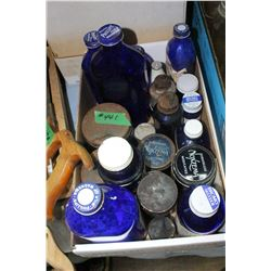 Box of Blue Bottles