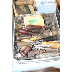 Tin of Woodworking Tools