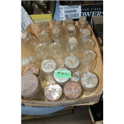 Box with Old Bottles & Jars