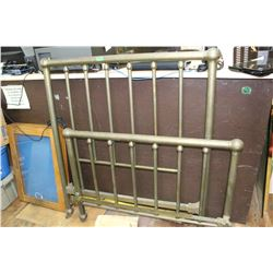 "Brass Bed Frame - 48""  (Head, Foot Board & Rails)   ***Please Pick up"