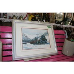 Framed Canadian Pacific Train Picture - by R.H. Slingerland