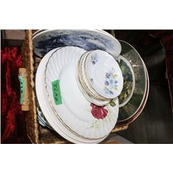 Box of Assorted Dishes (Plates & Saucers)