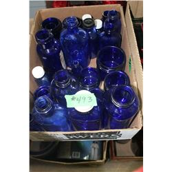 Box with Blue Bottles