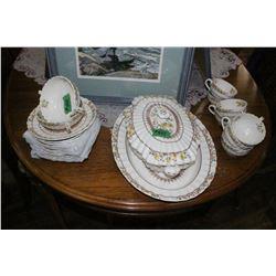 Partial set - Copeland Spode 'Buttercup' Pattern Dishes (23 pcs) incl. Lidded Serving Bowl & Platter
