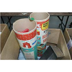 3 Tubes of Builders Bricks & Blocks