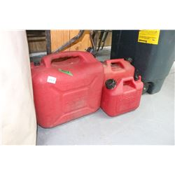 3 Red Plastic Jerry Cans   **Please Pick up