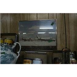 Metal Framed Picture of 2 Jet Planes