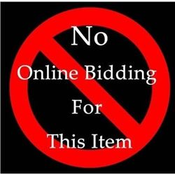 No Online Bidding for This Item