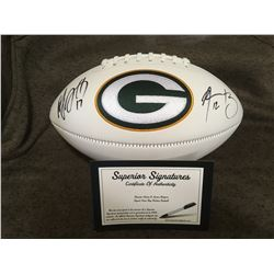 Aaron Rodgers & Davante Adams Autographed Football